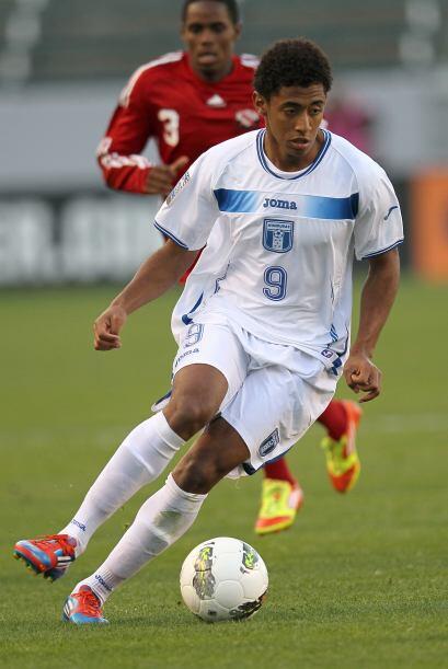 El delantero de la Selección Olímpica de Honduras Anthony...