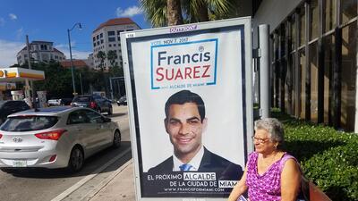 El equipo de Francis Suárez, el favorito para ganar la alcaldía de Miami...