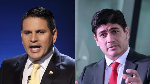Tanto Fabricio Alvarado (izquierda en la foto) como Carlos Alvarado pasa...