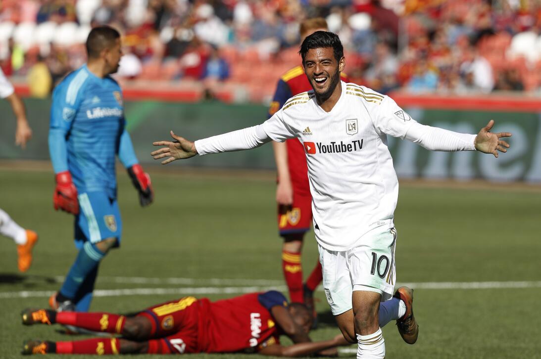 Real Salt Lake 1-[5] Los Angeles FC: primer festejo de Carlos Vela con e...