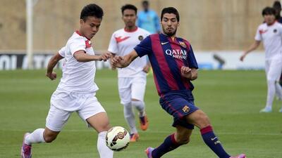 El uruguayo fue clave para la goleada del filial barcelonista ante el eq...