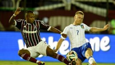 Italia agarró al Fluminense como sparring, previo a la Copa del Mundo.