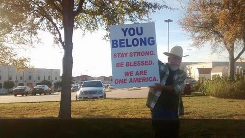 Justin Normand, en la imagen que se hizo viral