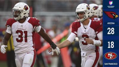 Arizona gana su primer partido de la temporada a costa de unos alicaídos 49ers