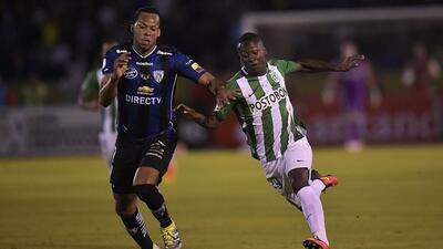 Independiente del Valle empata el juego 1-1 con el Atlético Nacional