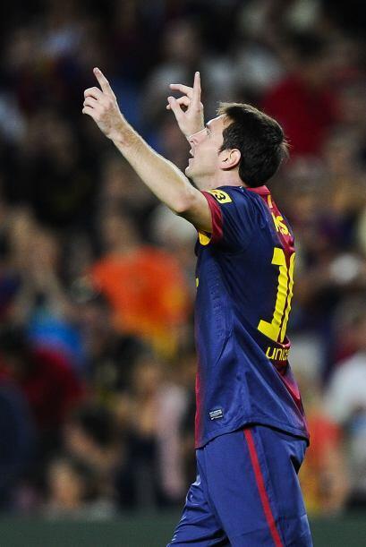 Finalmente marcó dos goles y se consagró como el mejor del partido.