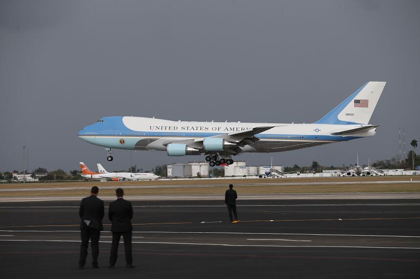 Así es el Air Force One, el avión que transportará a Donald Trump