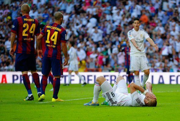 El MAdrid generaba oportunidades pero el gol no llegaba..