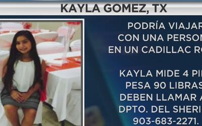 Se activa la Alerta Amber para buscar a Kayla Gómez