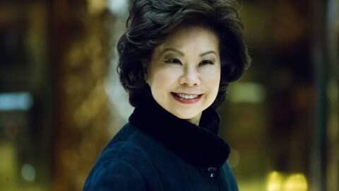 Elaine Chao será secretaria de Transporte del gobierno de Donald...
