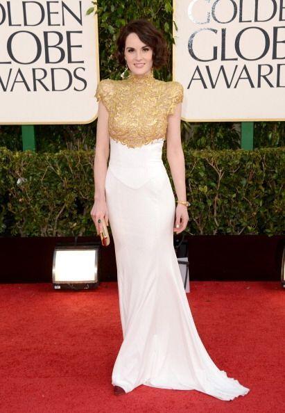 El vestido que usó Michelle Dockery de la serie 'Downton Abbey' fue cata...