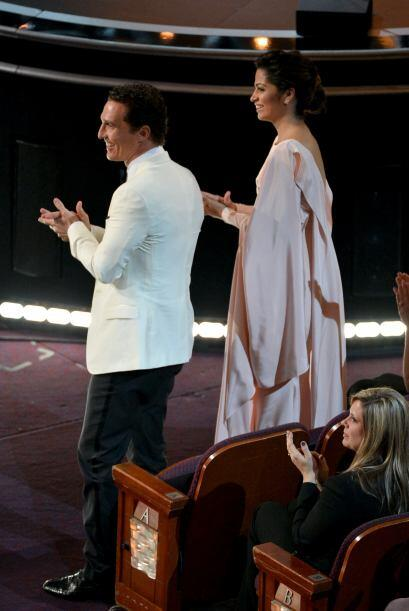 Matthew y su esposa, Camila Alves, estuvieron disfrutando de la entrega...