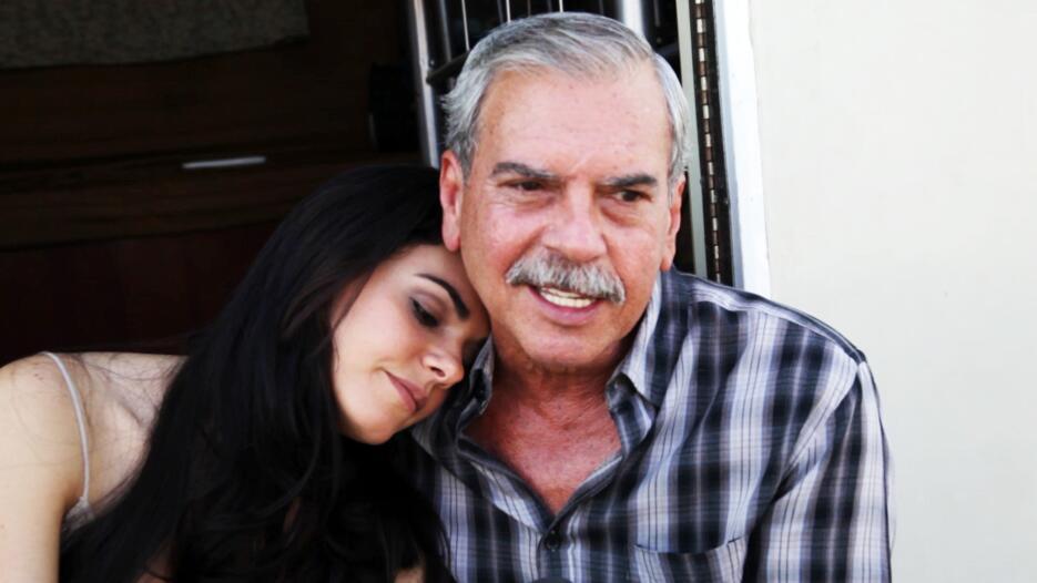 Livia Brito y su papá