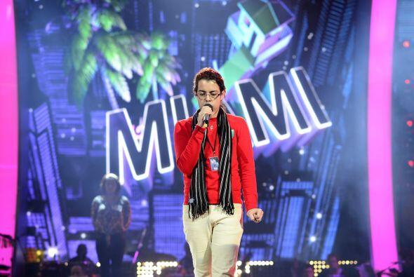 Raúl durante los ensayos del primer show.