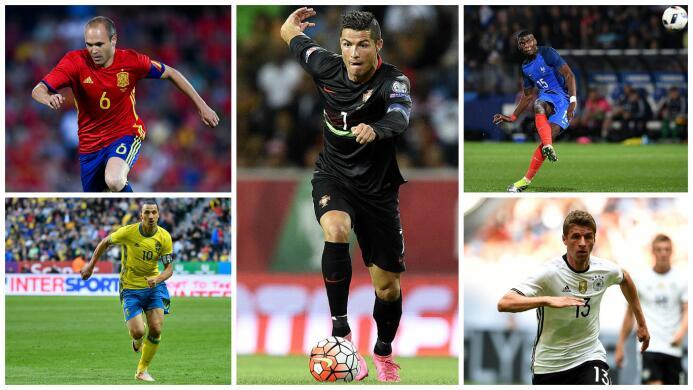 Figuras a seguir en la Eurocopa 2016