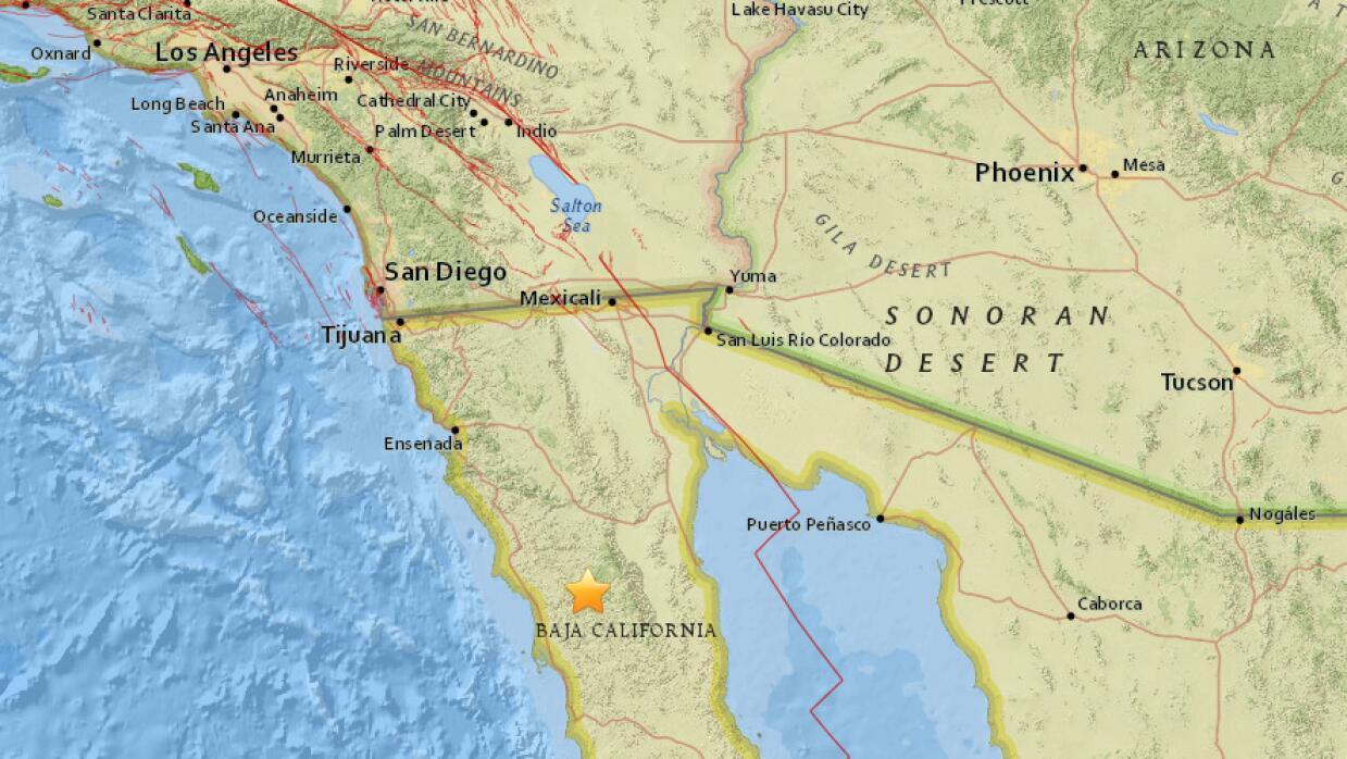 Un sismo de 4.4 se registró en Baja California la madrugada del miércole...