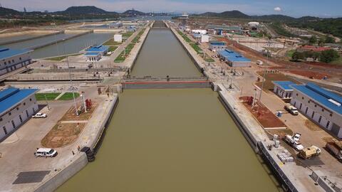 El Canal de Panamá tendrá desde el 26 de junio un tercer j...