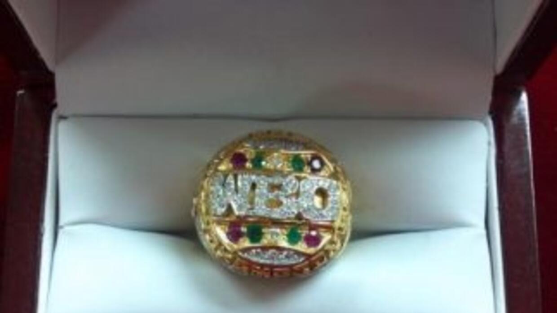 El anillo que recibirá Pacquiao (Foto: Twitter)