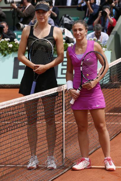 Maria Sharapova de Rusia se medía a Sara Errani de Italia en busca del t...