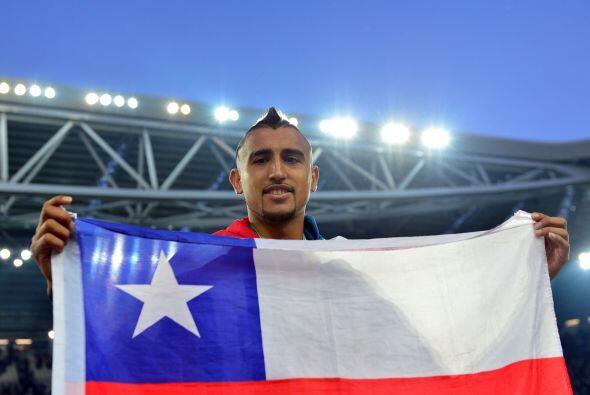 ...igual que el chileno Arturo Vidal.