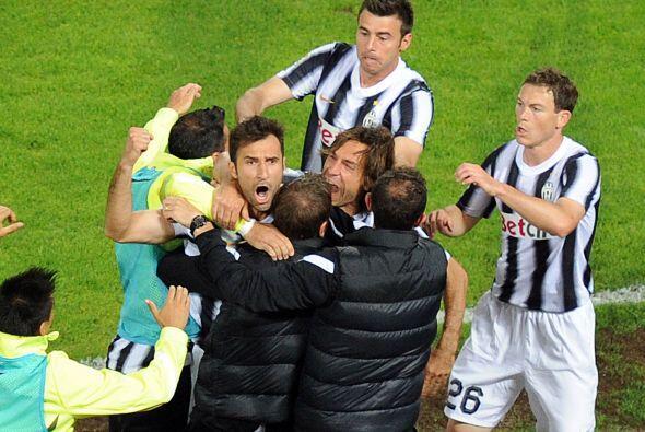 El cuadro de Turín celebraba este tanto, que les acercaba un poco más al...