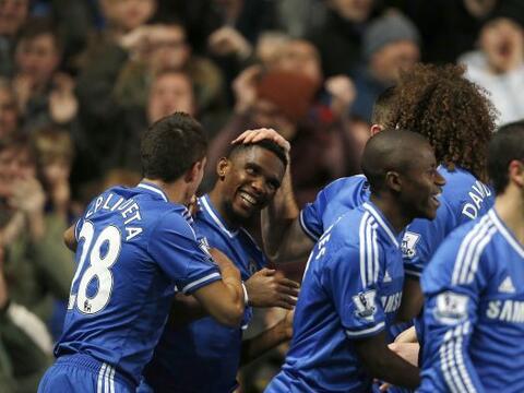 El camerunés Samuel Eto'o firmó un 'hat trick' en la visit...