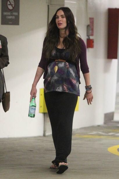 Ya en las últimas semanas de embarazo, Megan Fox lucía un tanto hinchada...