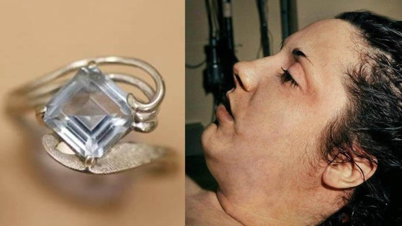 El anillo de la mujer desconocida y una foto tomada a su cadáver por las...