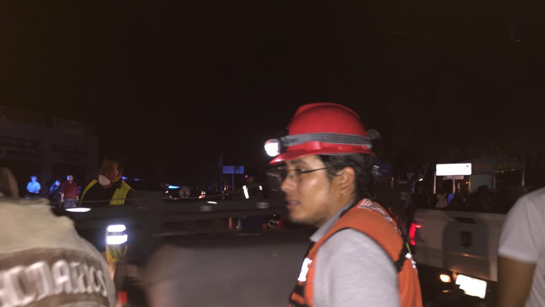 Malig Salgado, uno de los ciudadanos voluntarios en el Colegio Enrique R...