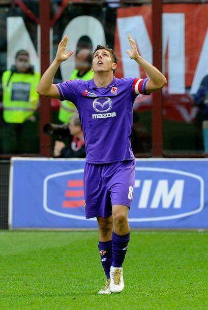 Fiorentina festejó el gol ya que necesita sumar puntos.