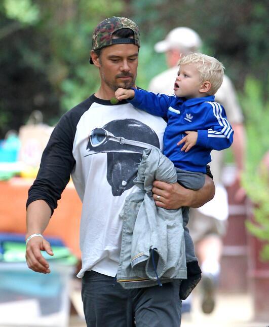 Josh Duhamel y su hijo con Fergie