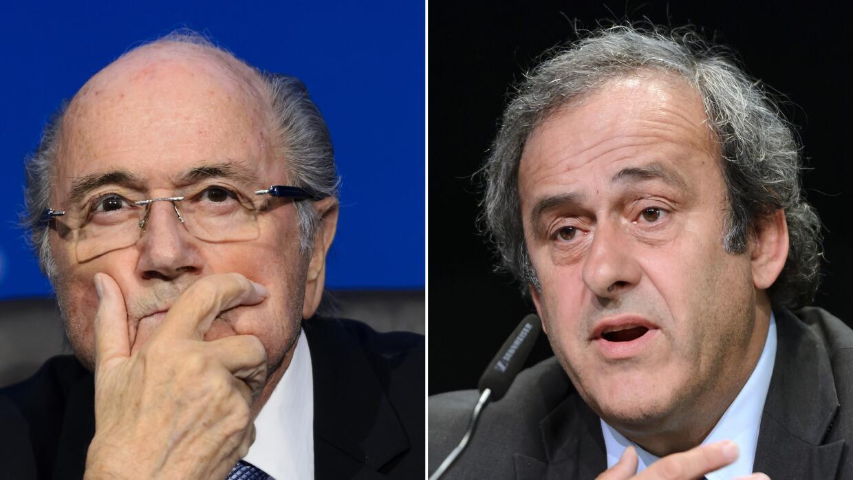 Joseph Blatter y Michael Platini.