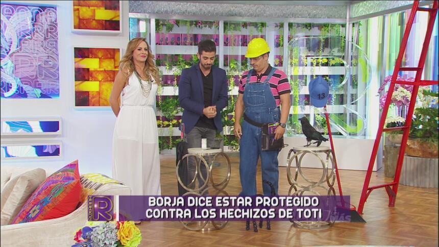 Tanto se molestó Toti que le puso una dura prueba a Borja.