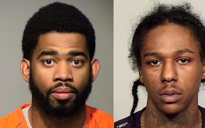 El de la izquierda es el oficial de la Policía de Milwaukee Domin...