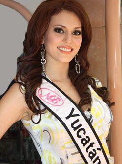 La bella anfitriona del concurso, Anabel Solís Sosa de 21 años de edad.