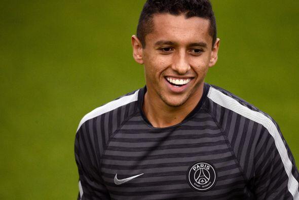 Compañero de David Luiz en el París Saint Germain, el defensor Marquinho...