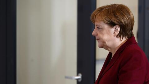 Angela Merkel durante una reunión en Berlín esta semana.