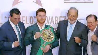 ¡Nocaut! Slim y Sulaimán proponen al 'Canelo' Álvarez al Premio Nacional del Deporte