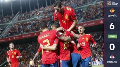 ¡Vaya paseo! España goleó y humilló al subcampeón del mundo
