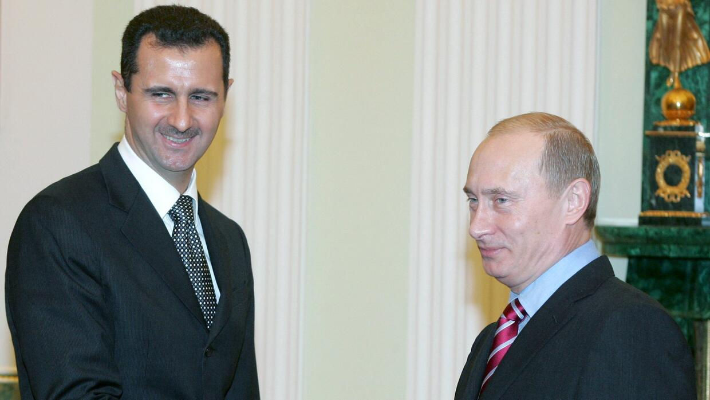 Bashar al-Assad y Vladímir Putin reunidos en el Kremlin