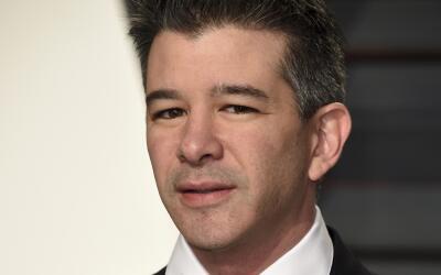 El CEO de Uber, Travis Kalanick, en una fiesta de los Oscar en Beverly H...