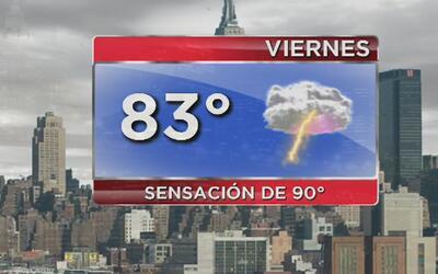 Viernes mayormente nublado y con probabilidades de lluvia en Nueva York