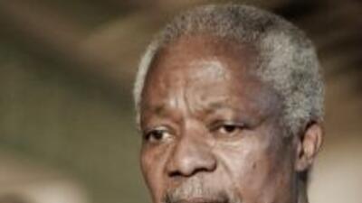 El enviado conjunto de la ONU y de la Liga Árabe, Kofi Annan.