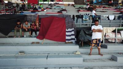 La caravana migrante, una pequeña ciudad ambulante que sigue su ruta a Tijuana