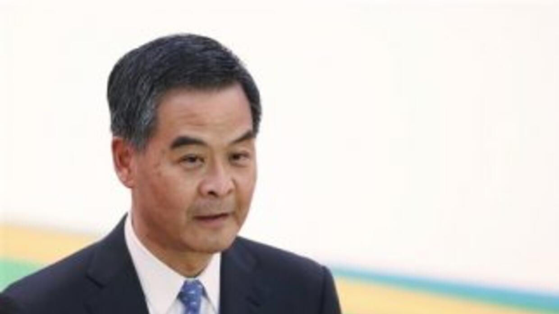 El líder de gobierno hongkonés, Leung Chun-ying,hizo el anuncio a 18 dí...