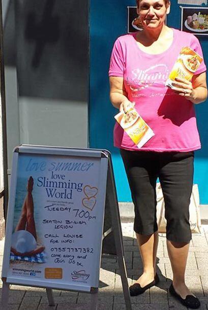 Después de tantas libras perdidas, Lousie cuida su dieta. Lo que menos q...