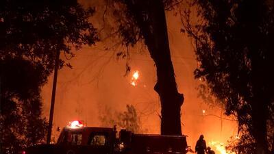 En fotos: Varios incendios se propagan en el sur de California dejando daños materiales