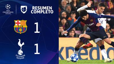 Barcelona 1-1 Tottenham - GOLES Y RESUMEN - Grupo B - UEFA Champions League