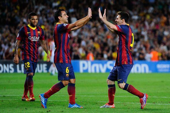 Pero Messi debía sellar la fiesta del Barcelona al marcar su triplete y...