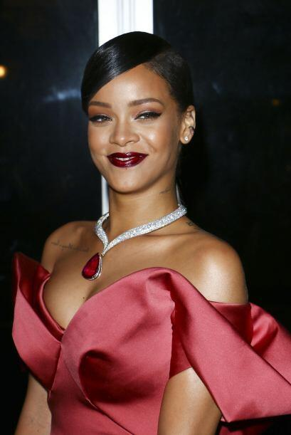 De cualquier forma, Rihanna estaba muy contenta con su Diamond Ball Gala.